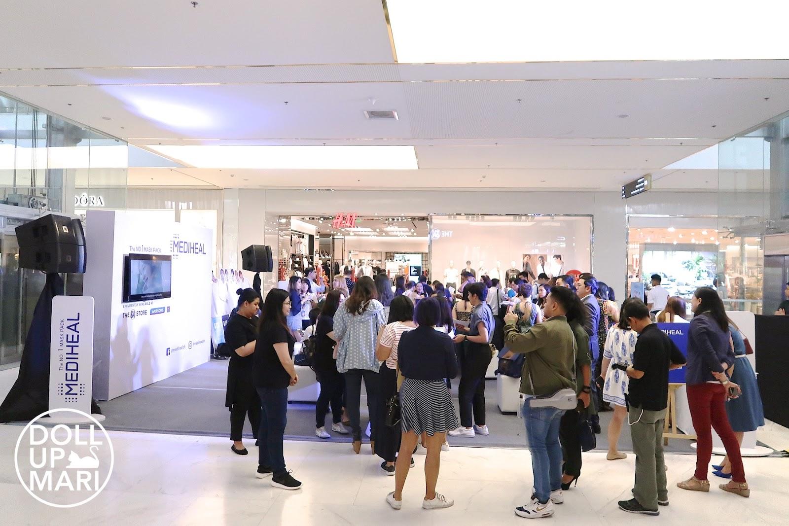 Site of Mediheal X BTS Event Launch