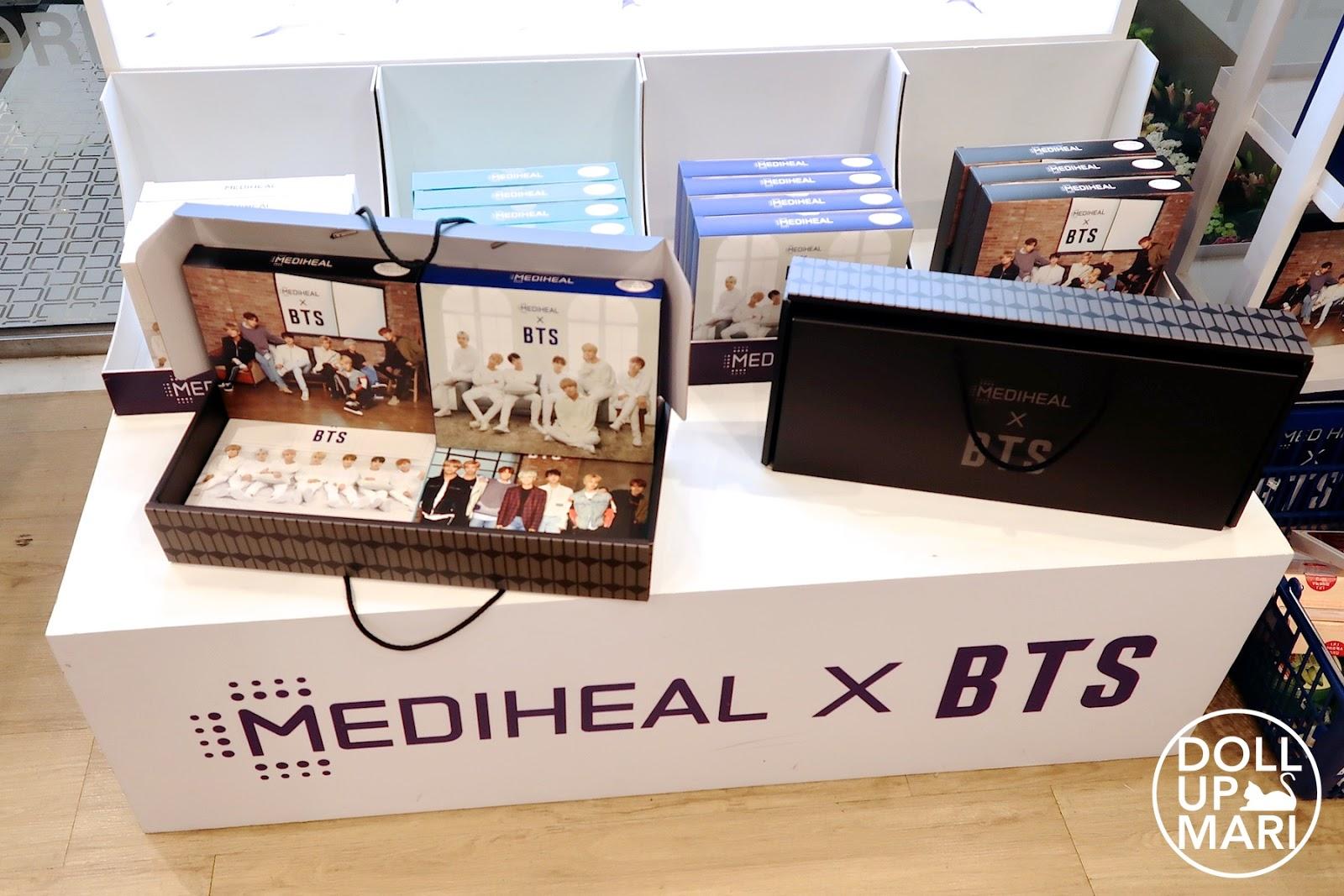 Mediheal X BTS Masks Limited Edition Boxes On Display On Shelf