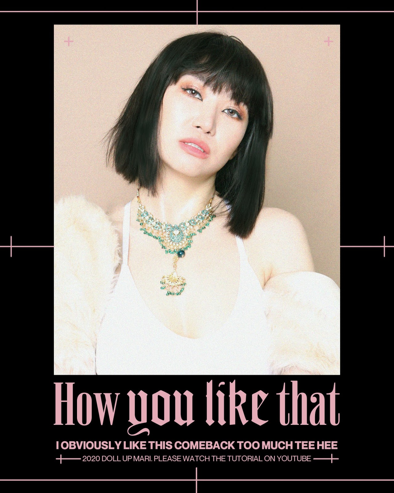 """Stylized concept poster of Cosplay of Blackpink Lisa's """"How You Like That"""" Look"""