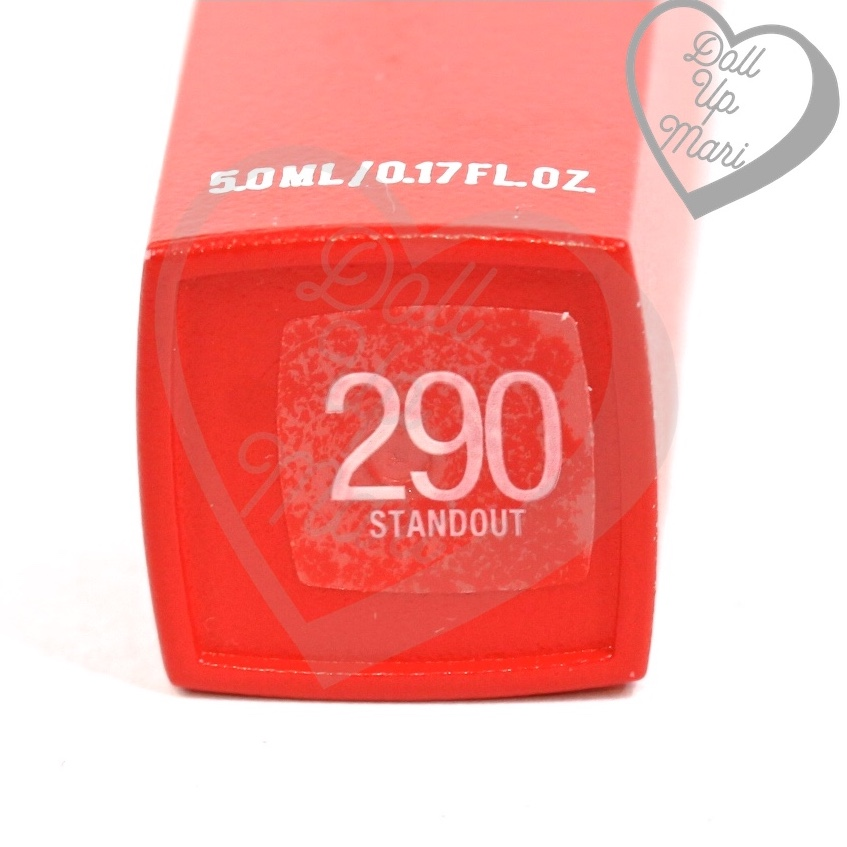 Tube bottom of 290 Standout shade of Maybelline Superstay Matte Ink Liquid Lipstick Rogue Reds