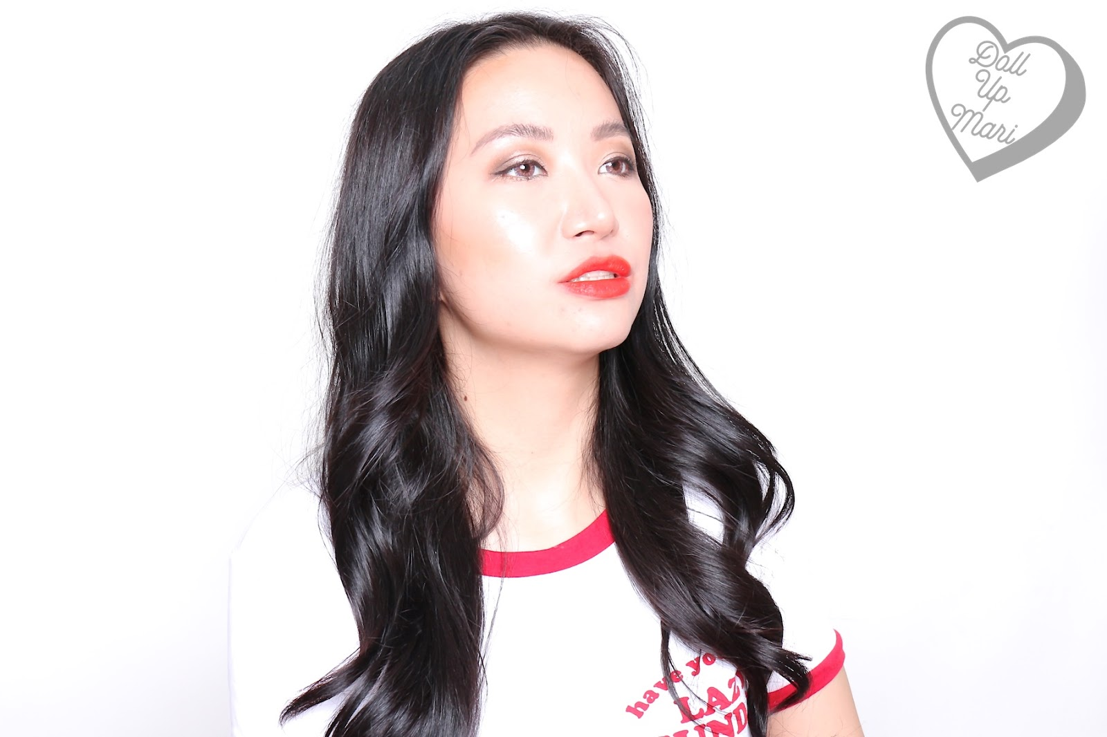 Wearing 290 Standout shade of Maybelline Superstay Matte Ink Liquid Lipstick Rogue Reds