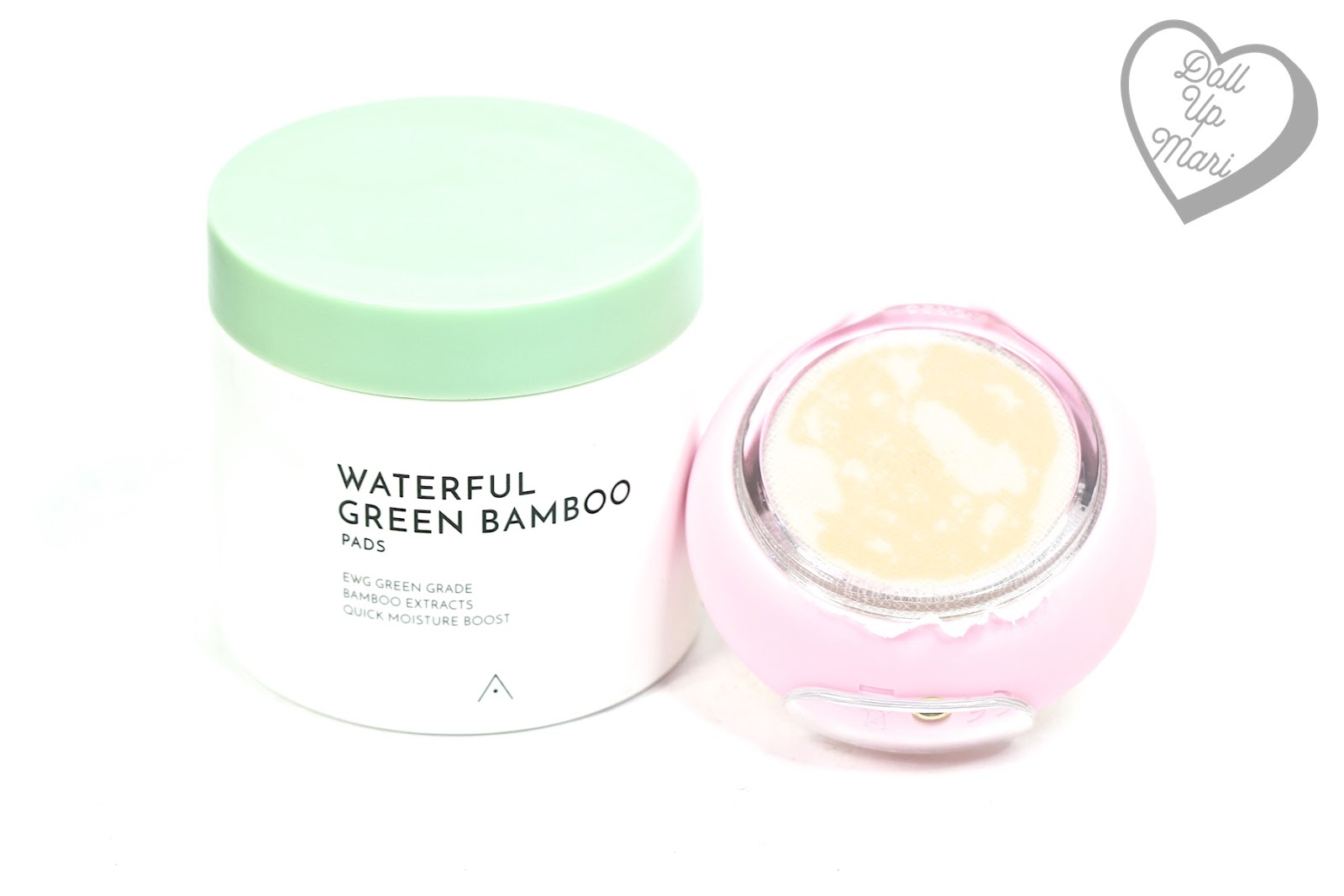 FOREO UFO Smart Mask Device loaded with Althea Waterful Green Bamboo Pads