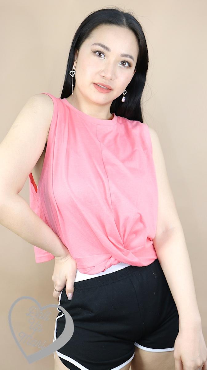 Wearing Zalora Basics Tank Dress w/ Twist Front