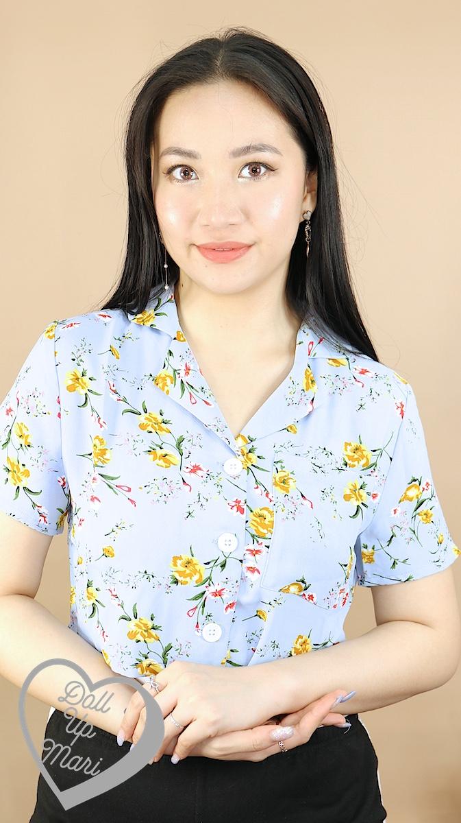 Wearing Zalora Young Boxy Crop Resort Shirt