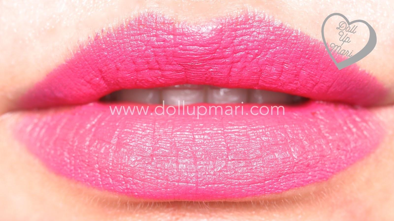 lip swatch of Adoring Love shade of AVON Perfectly Matte Lipstick