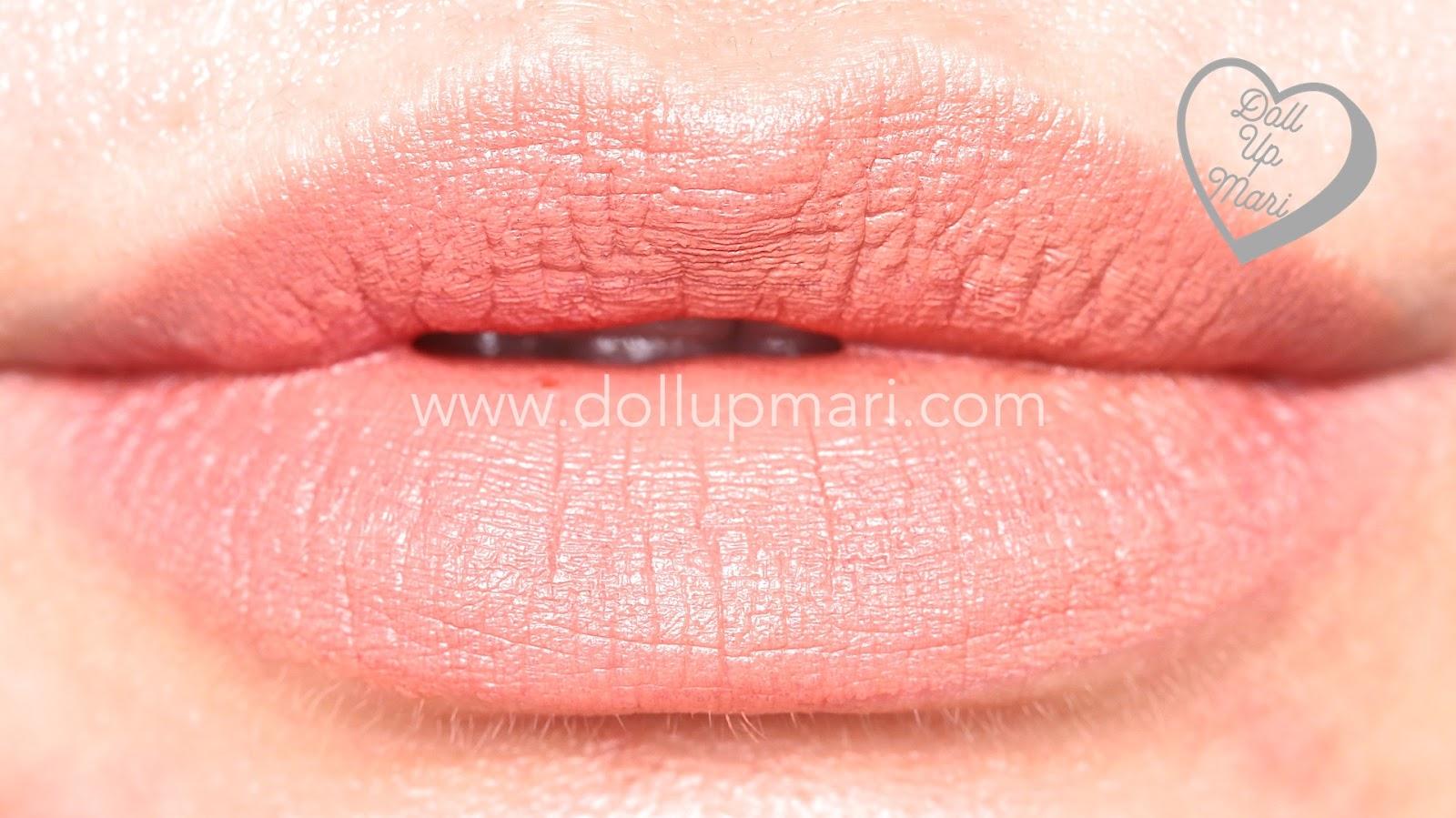 Lip Swatch of Au Naturale shade of AVON Perfectly Matte Lipstick