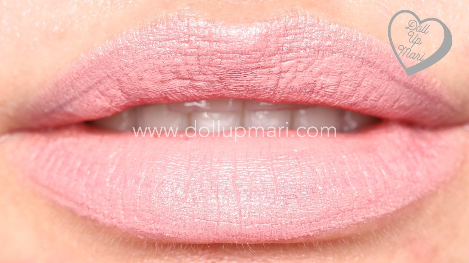 lip swatch of Blush Shade of AVON Perfectly Matte Lipstick