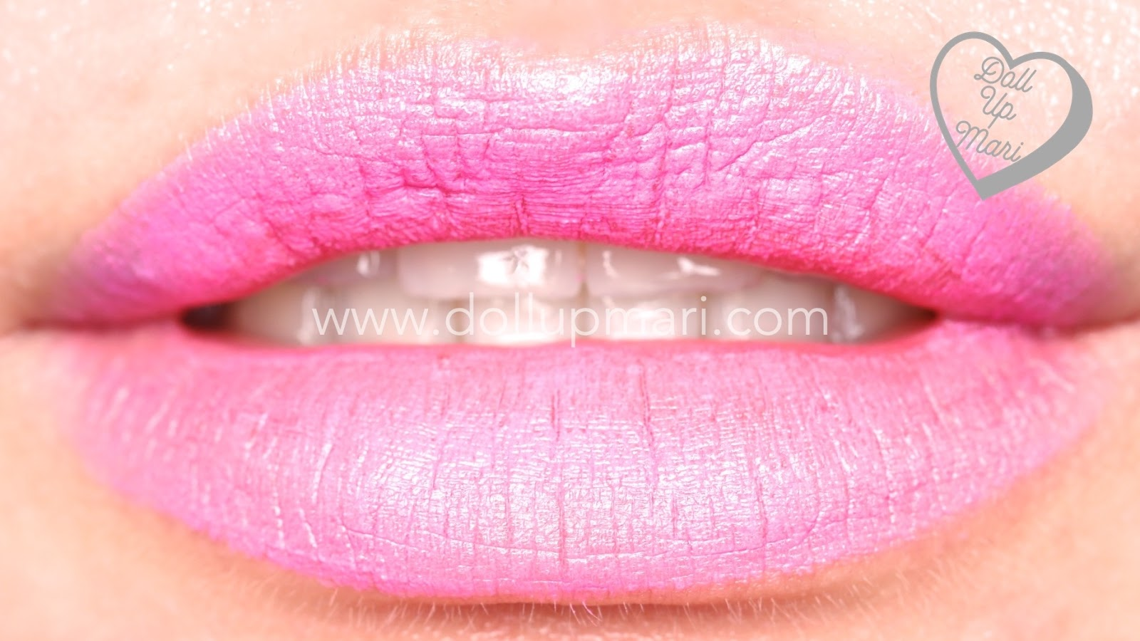 Lip Swatch of Electric Pink shade of AVON Perfectly Matte Lipstick