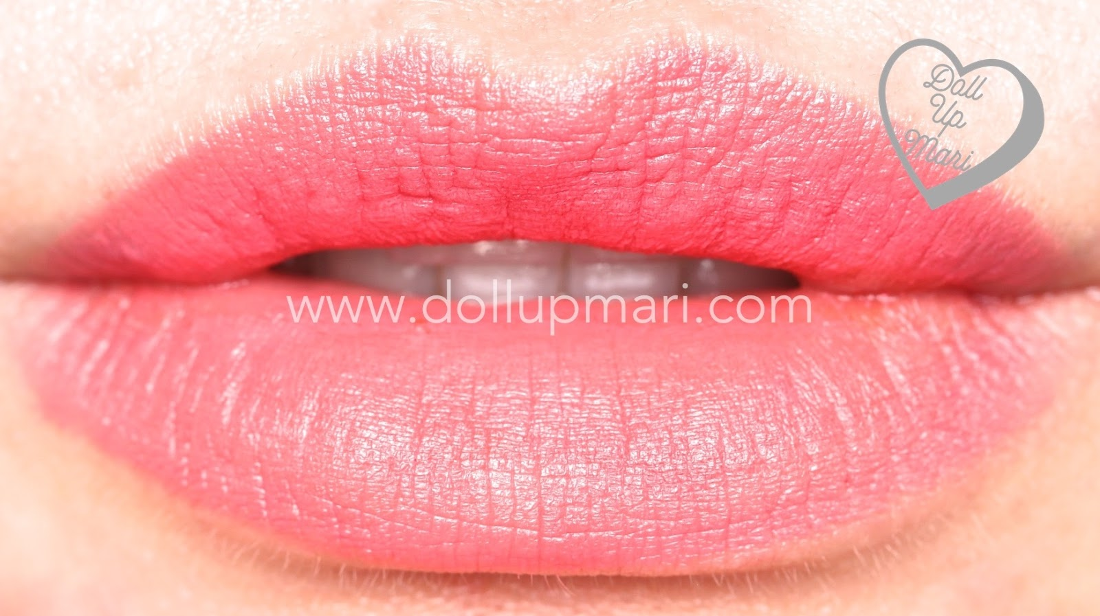 Lip Swatch of Peach Flutters shade of AVON Perfectly Matte Lipstick