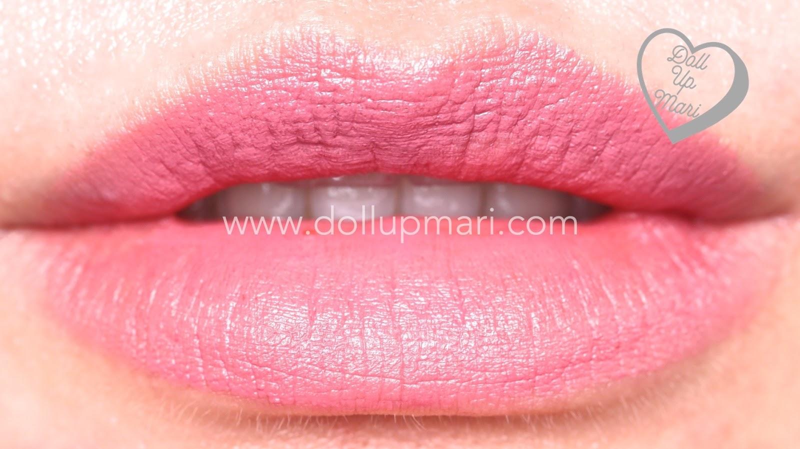 lip swatch of Pink Truffle shade of AVON Perfectly Matte Lipstick
