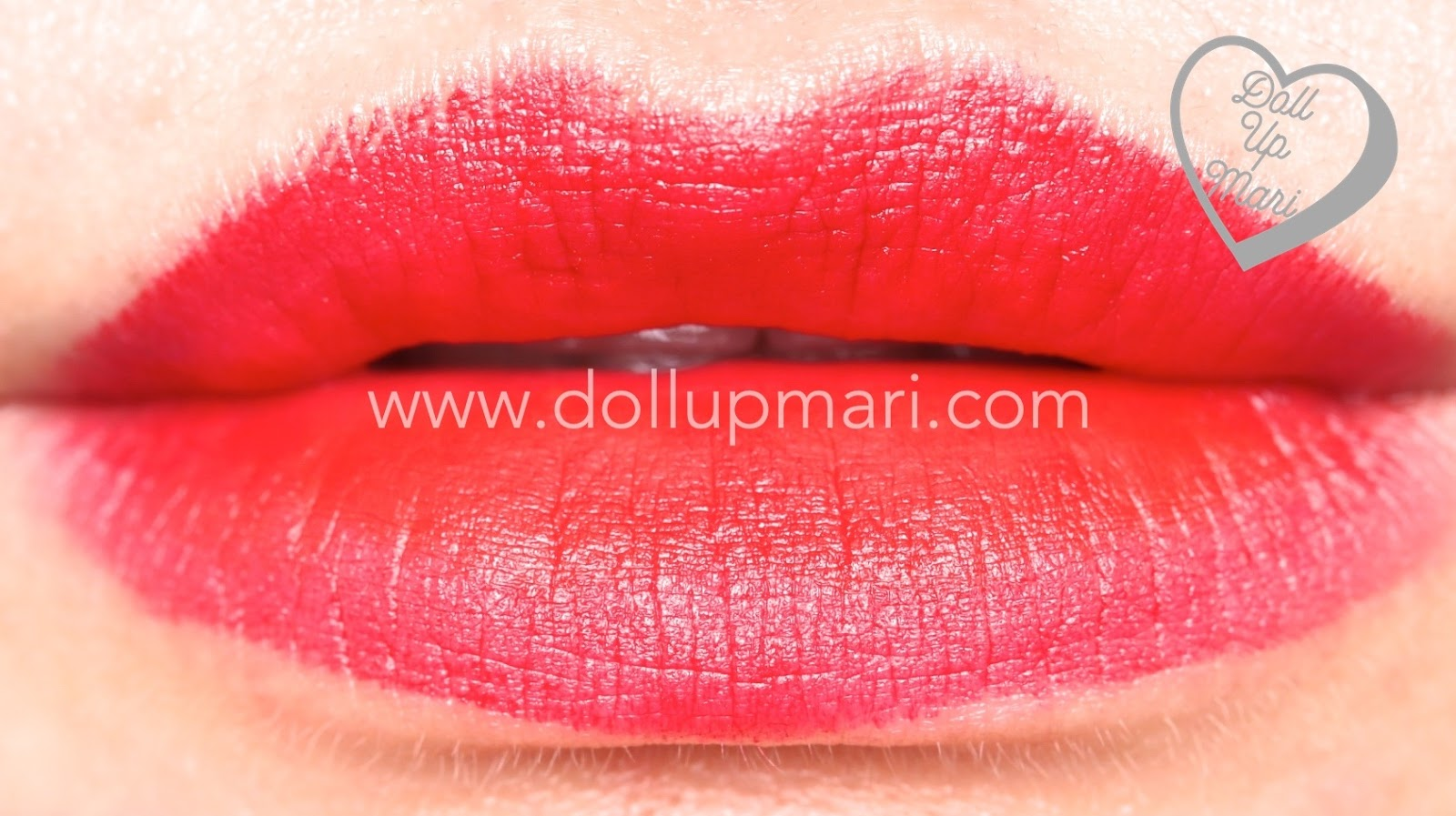 lip swatch of Red Supreme shade of AVON Perfectly Matte Lipstick