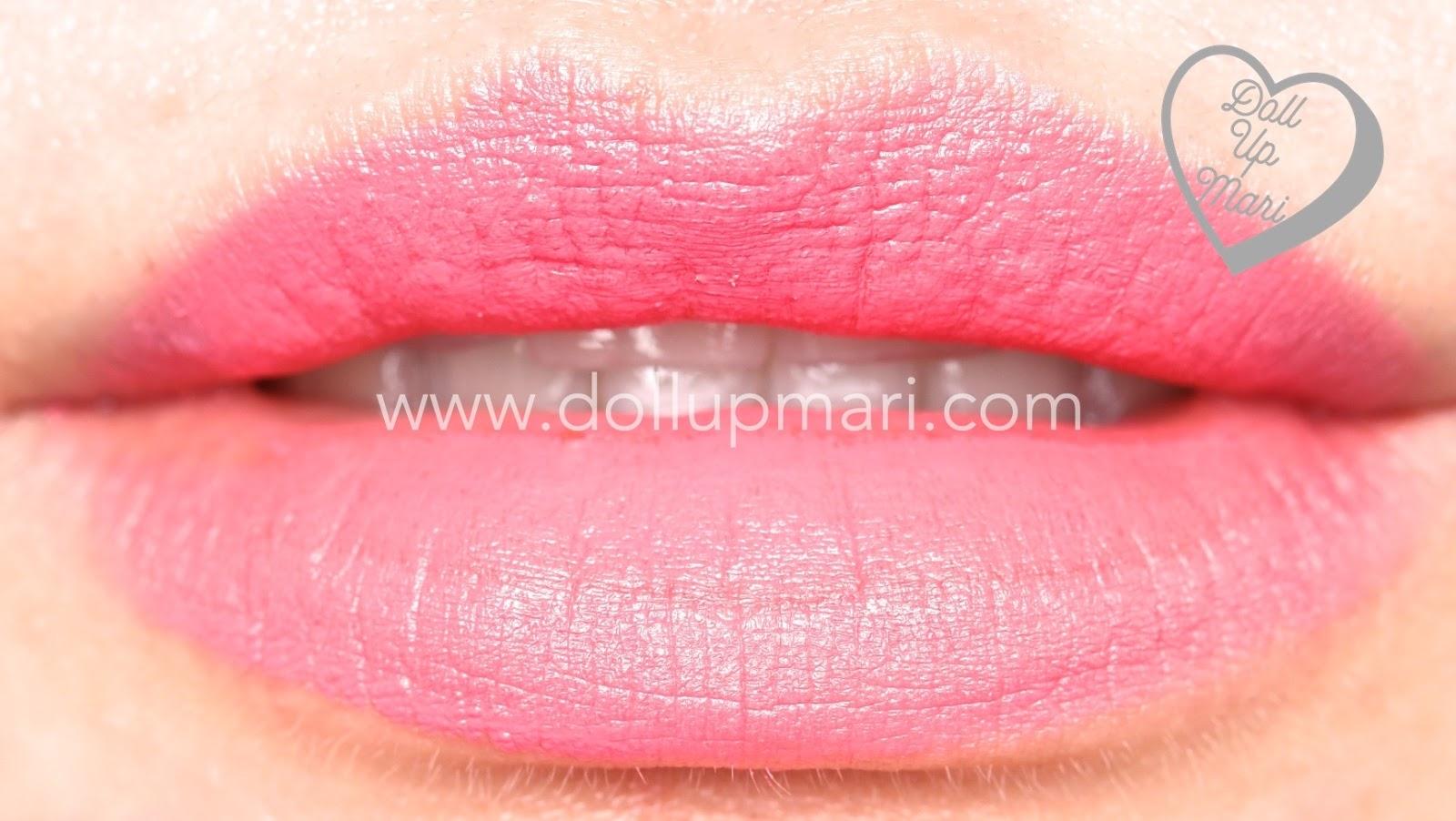 lip swatch Rose Awakening shade of AVON Perfectly Matte Lipstick