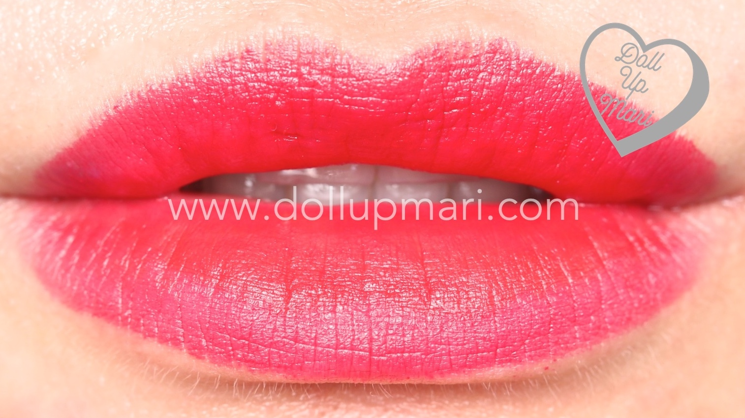 lip swatch of Ruby Kiss shade of AVON Perfectly Matte Lipstick