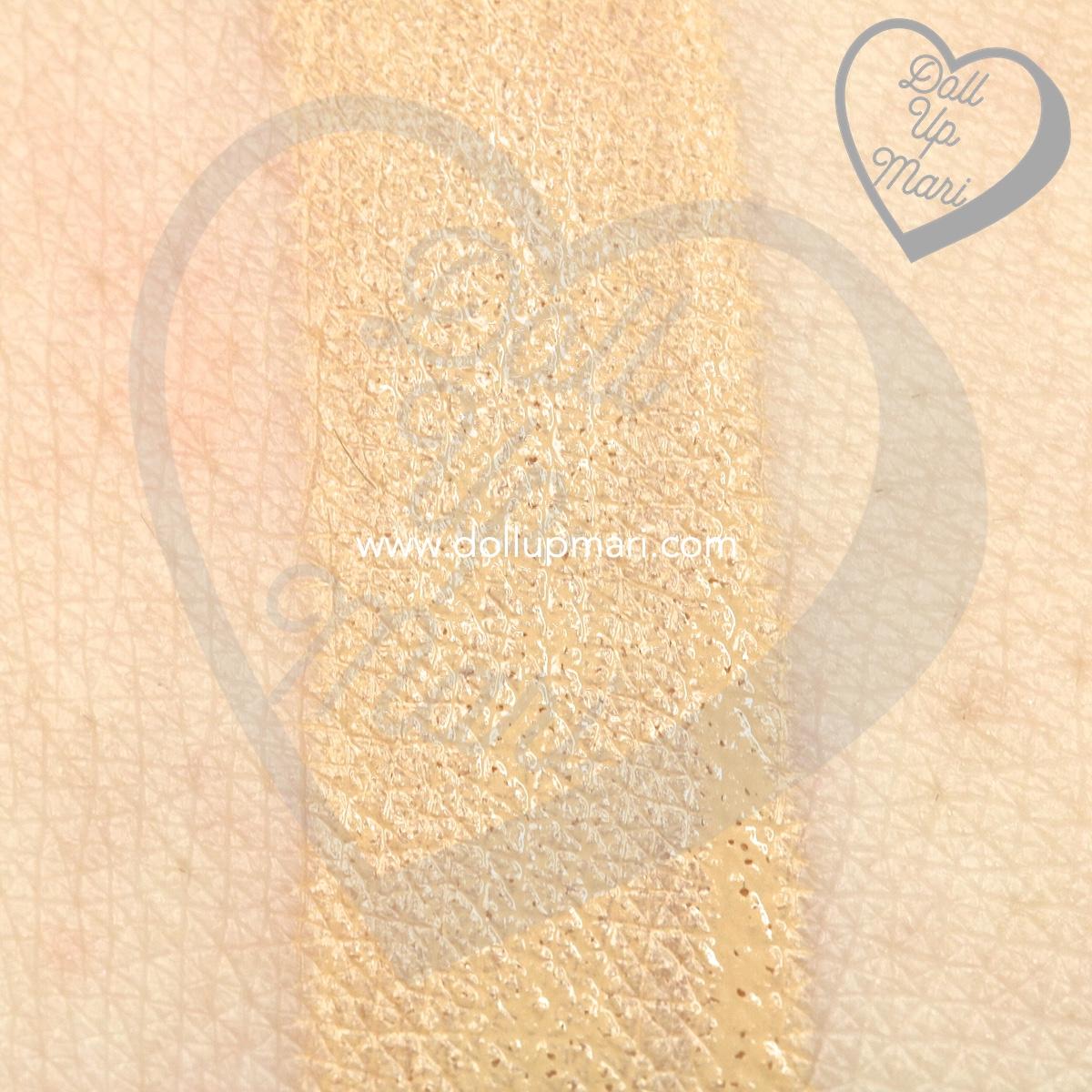 Swatch of L'Oréal Paris Infallible 24HR Fresh Wear Liquid Foundation SPF25PA+++ in shade Golden Beige