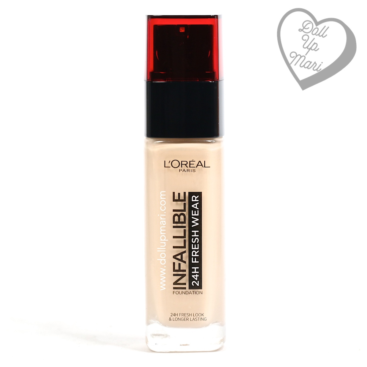 pack shot of L'Oréal Paris Infallible 24HR Fresh Wear Liquid Foundation SPF25PA+++ in shade Ivory