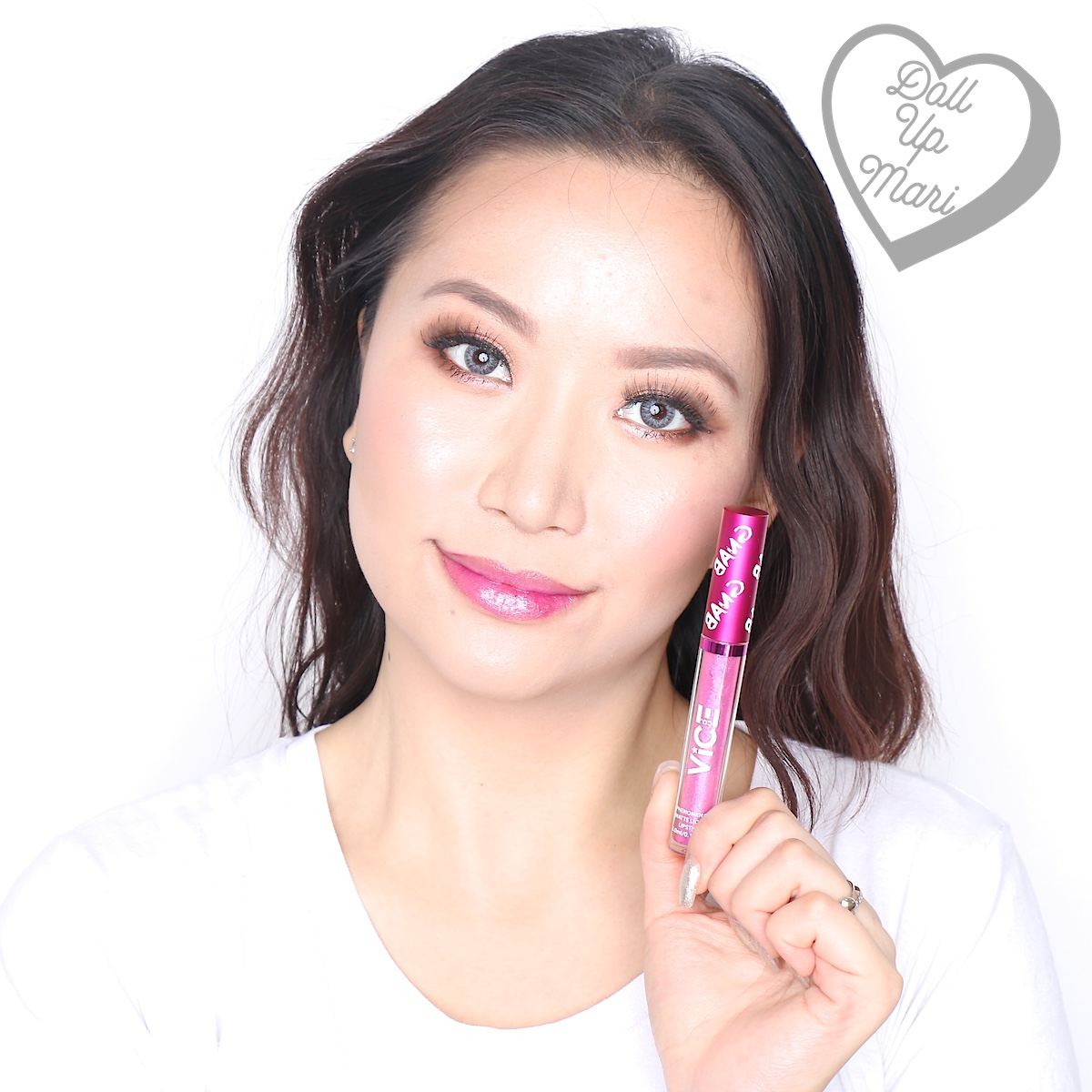 Mari wearing the Glitter Topper of the Mowdel set of Vice X Bang Lip set collection
