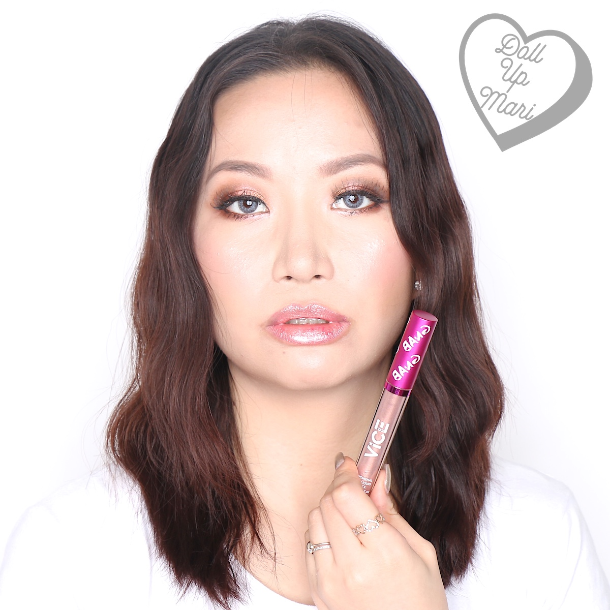 Mari wearing the Glitter Topper of the Saveeeh set of Vice X Bang Lip set collection