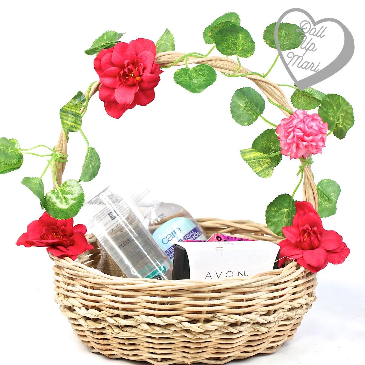 AVON Floral Wonderland Collection in a floral basket seeding kit