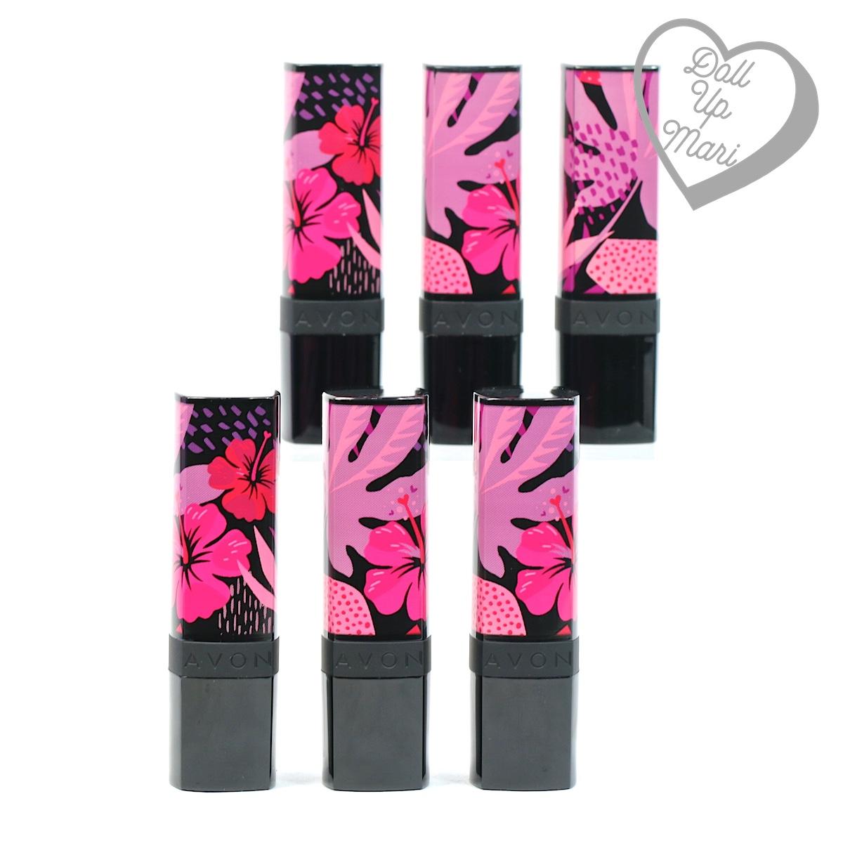 AVON Floral Wonderland Lipstick Collection Packaging