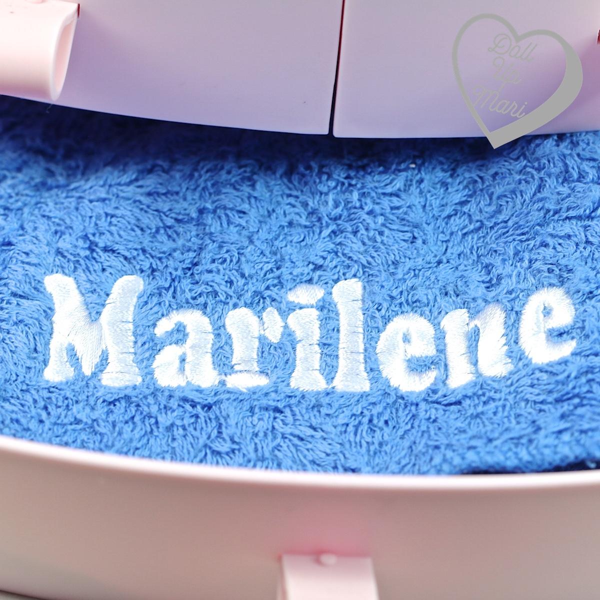 personalized Marilene towel