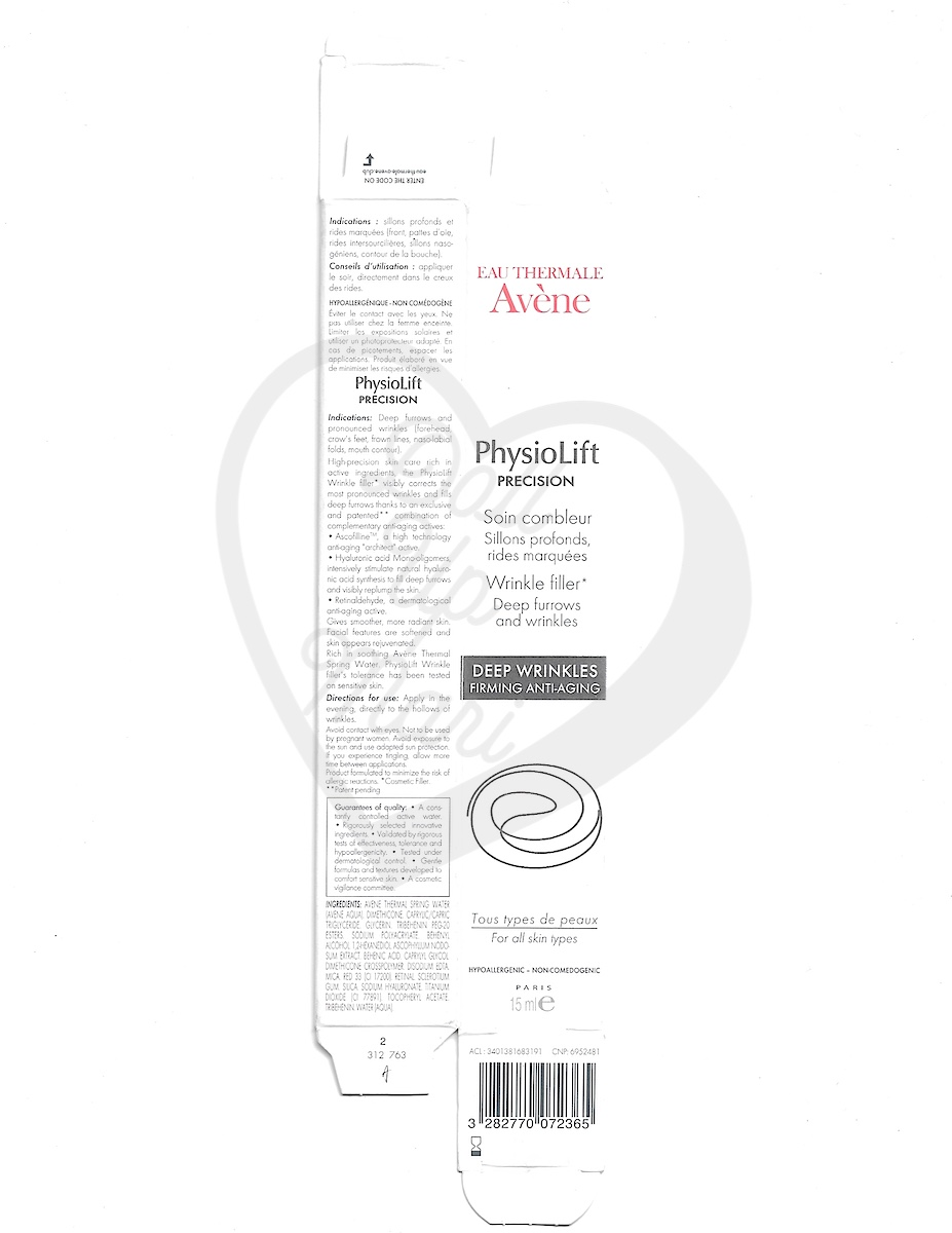 Box Scan of Avène PhysioLift Precision Wrinkle Filler