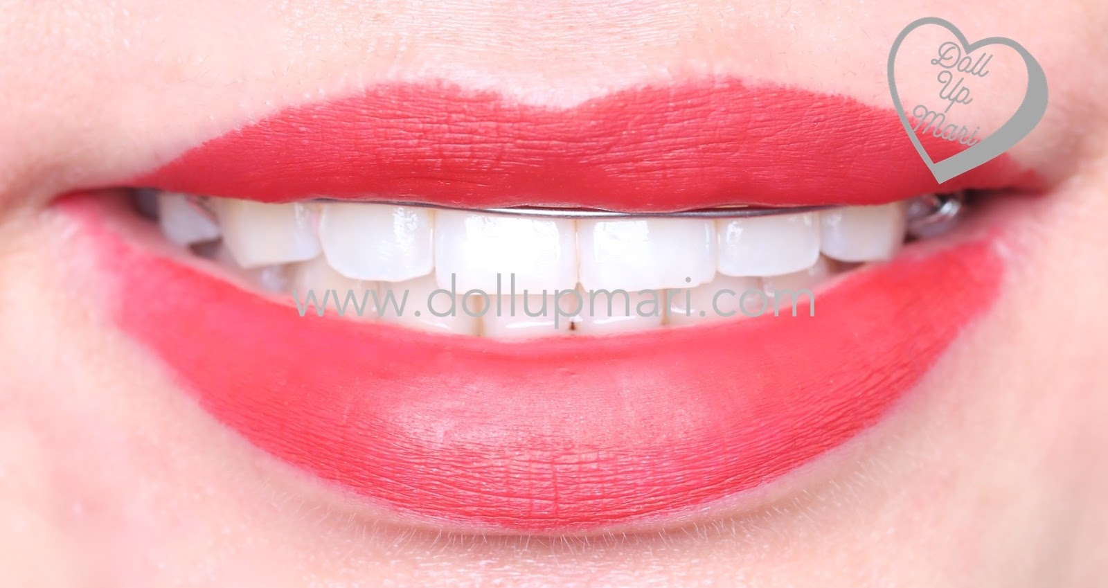 lip swatch of SilkyGirl Matte Junkie Lipcolor (09 Rouge)