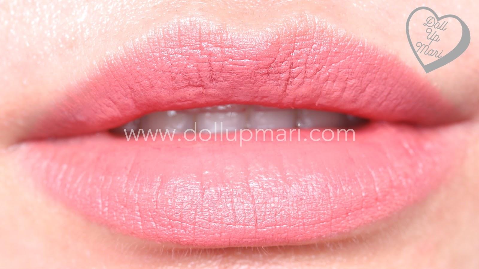 lip swatch of Silkygirl OMG! Powder Matte Lipcolor Lipstick (01-Blossom)