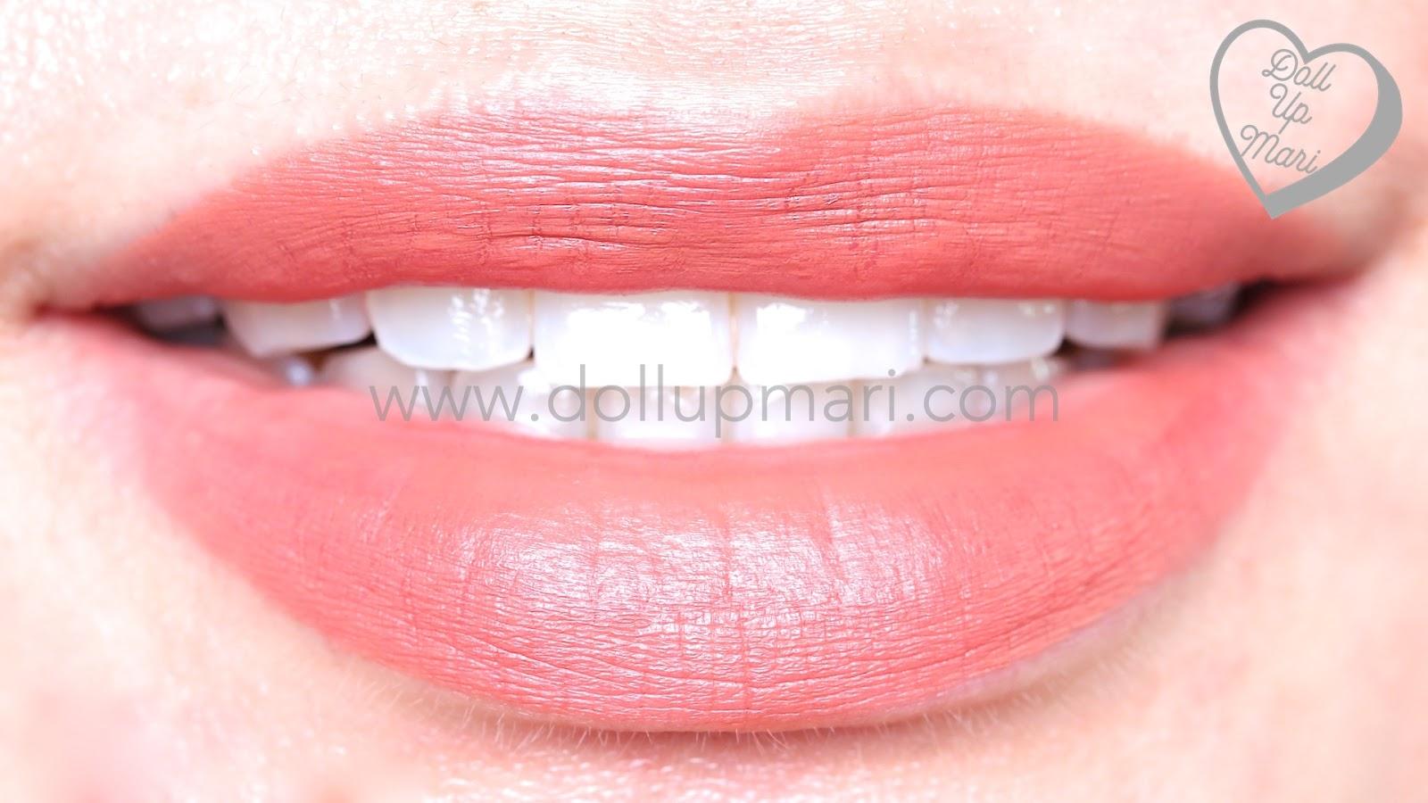 lip swatch of Silkygirl OMG! Powder Matte Lipcolor Lipstick (02-Mocha)