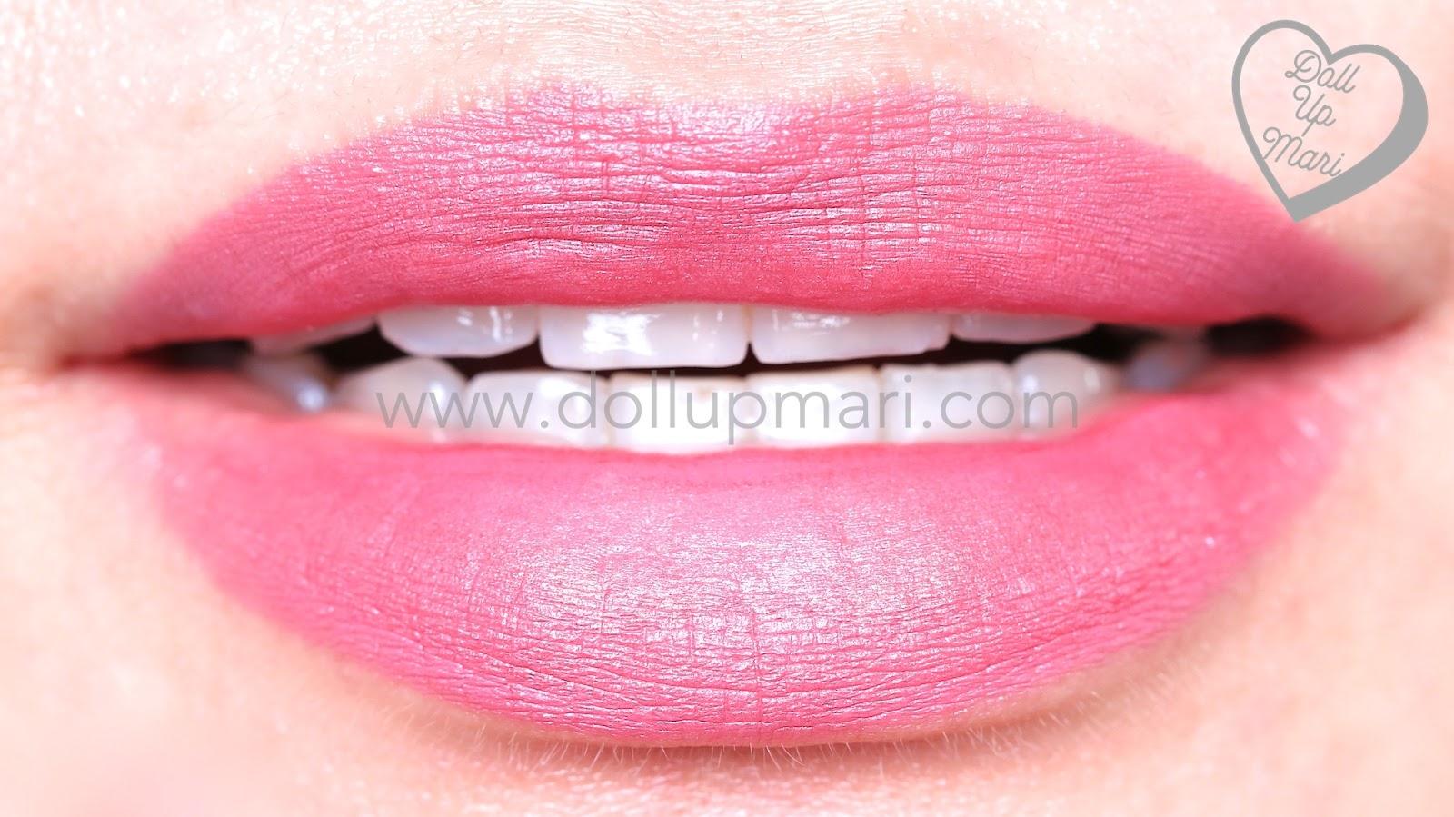lip swatch of Silkygirl OMG! Powder Matte Lipcolor Lipstick (03-Mulberry)