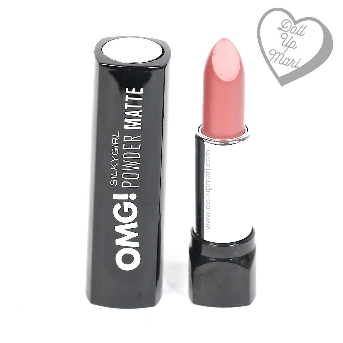 pack shot of Silkygirl OMG! Powder Matte Lipcolor Lipstick (05-Rosewood)
