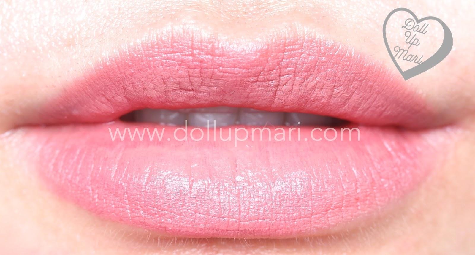lip swatch of Silkygirl OMG! Powder Matte Lipcolor Lipstick (05-Rosewood)