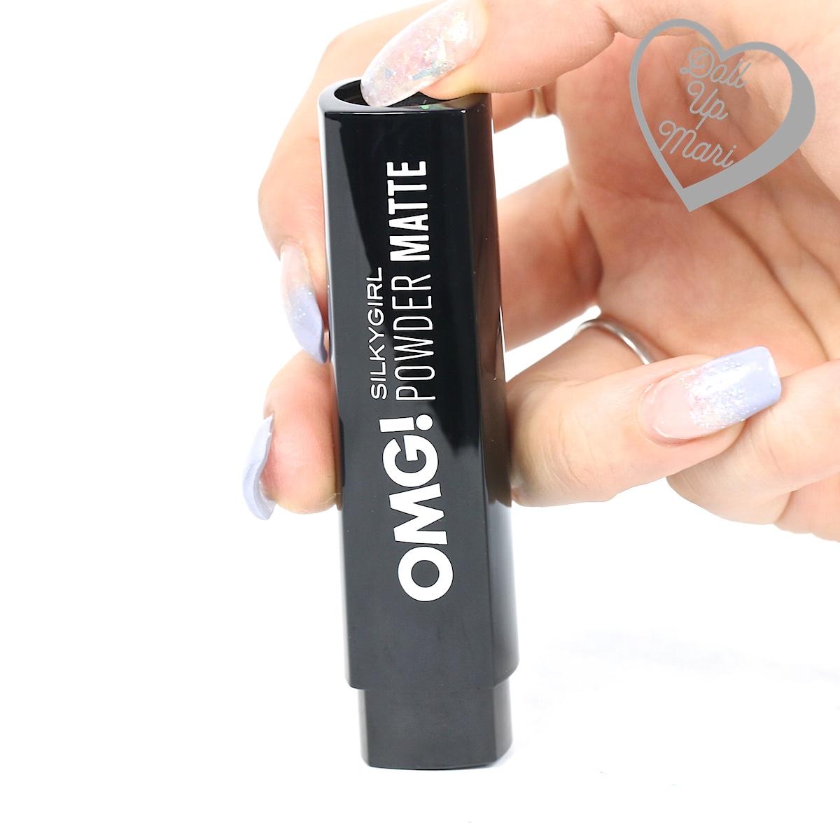 Silkygirl OMG! Powder Matte Lipcolor Lipstick casing when clicked