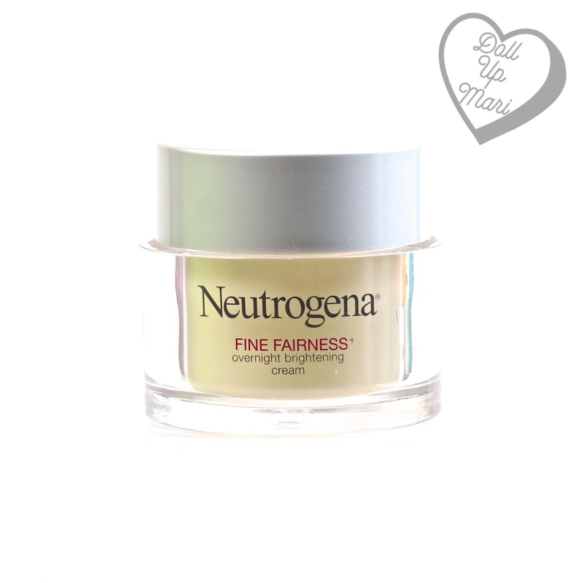 Neutrogena Overnight Fine Fairness Brightening Cream