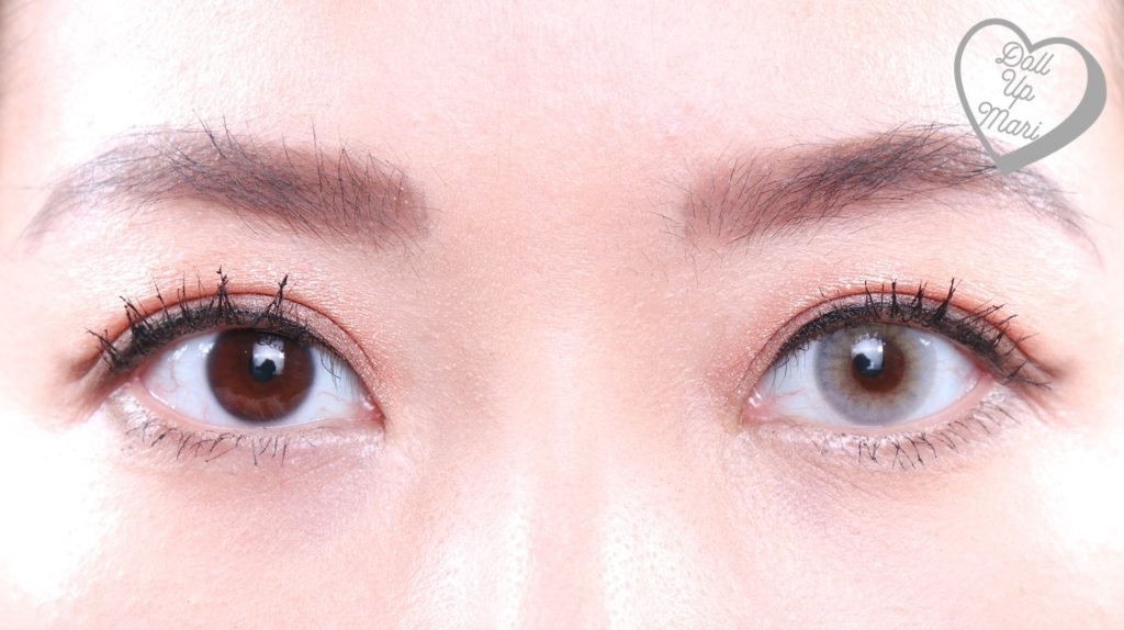 Comparison Eye Zoom of Olens Russian Smoky Contact Lens (Gray)