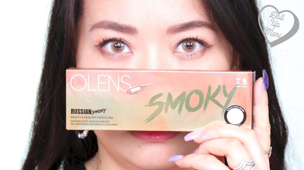 Mari zoom shot wearing Olens Russian Smoky Contact Lens (Hazel)