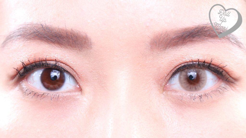 Olens Russian Smoky Contact Lens (Hazel) Eye Comparison