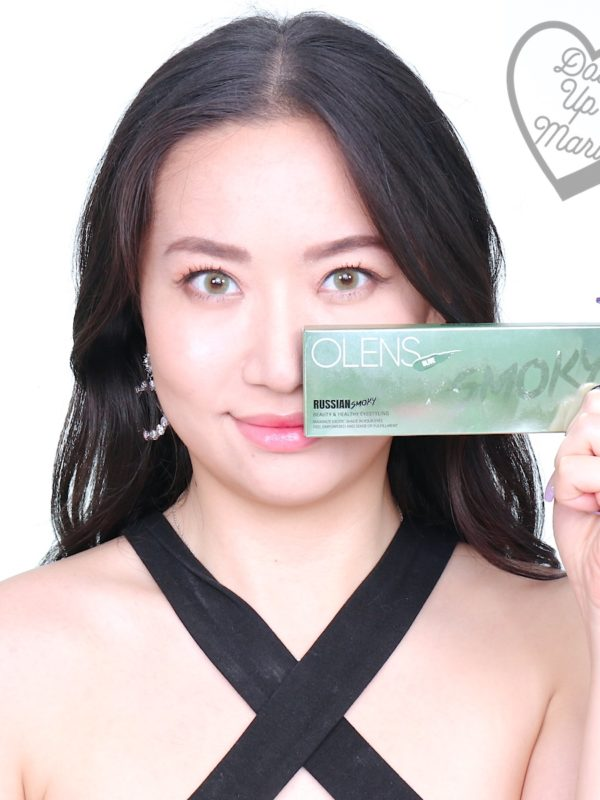 dollupmari posing with Olens Russian Smoky Contact Lens (Olive)