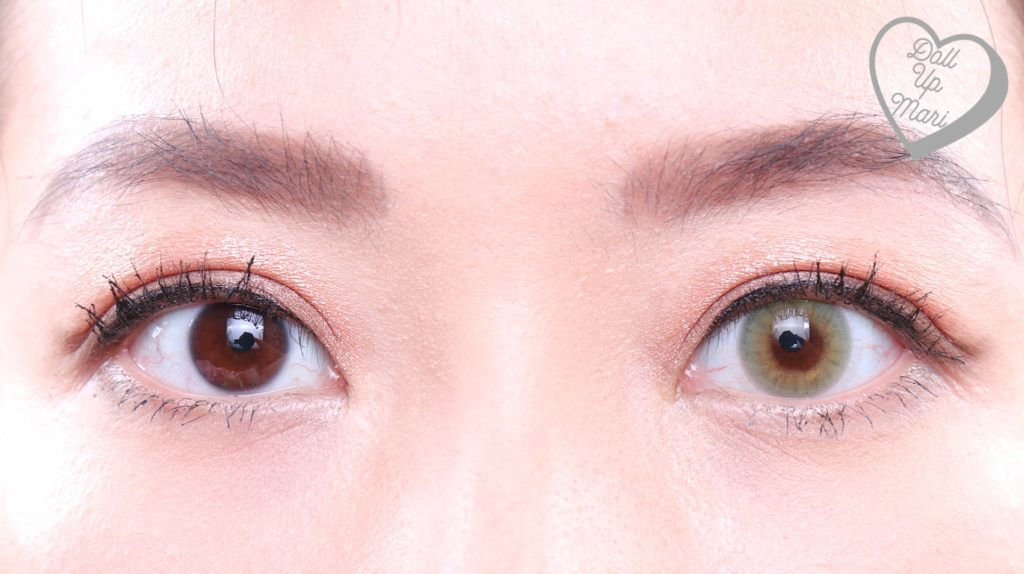 Olens Russian Smoky Contact Lens (Olive) Eye Comparison Zoom