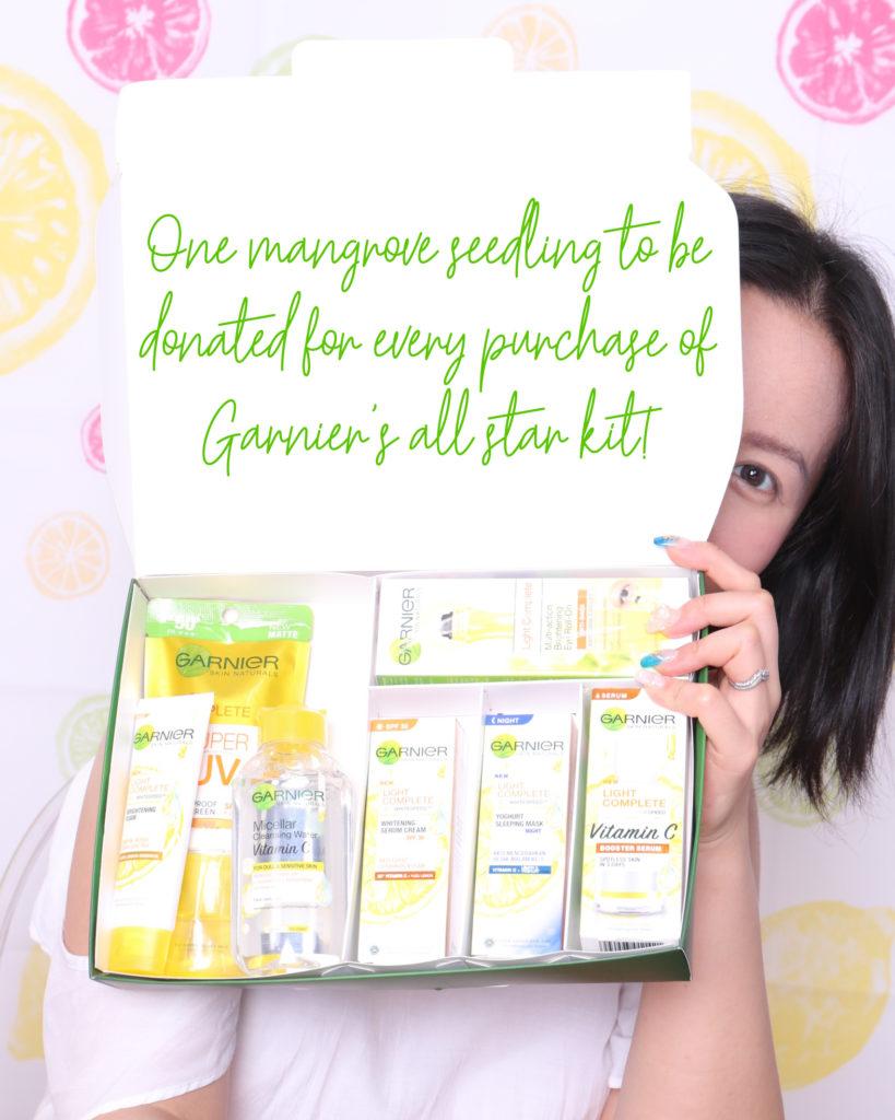 Mari Posing with Garnier All Star Kit